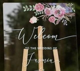Cartelli Plexiglass tableau de mariage YK017_3
