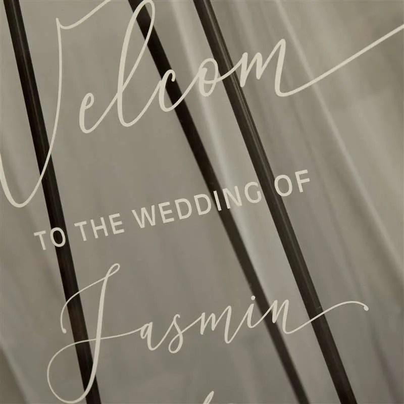 Cartelli Plexiglass tableau de mariage YK017_7