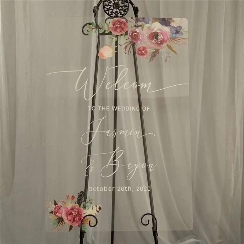 Cartelli Plexiglass tableau de mariage YK017_8