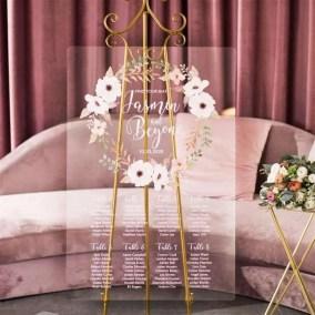 Cartelli Plexiglass tableau de mariage YK019