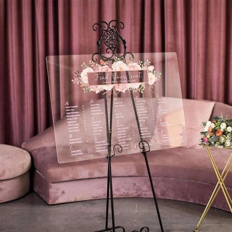 Cartelli Plexiglass tableau de mariage YK021_2