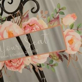 Cartelli Plexiglass tableau de mariage YK021_5