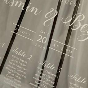 Cartelli Plexiglass tableau de mariage YK023_4