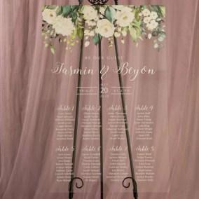 Cartelli Plexiglass tableau de mariage YK023_5