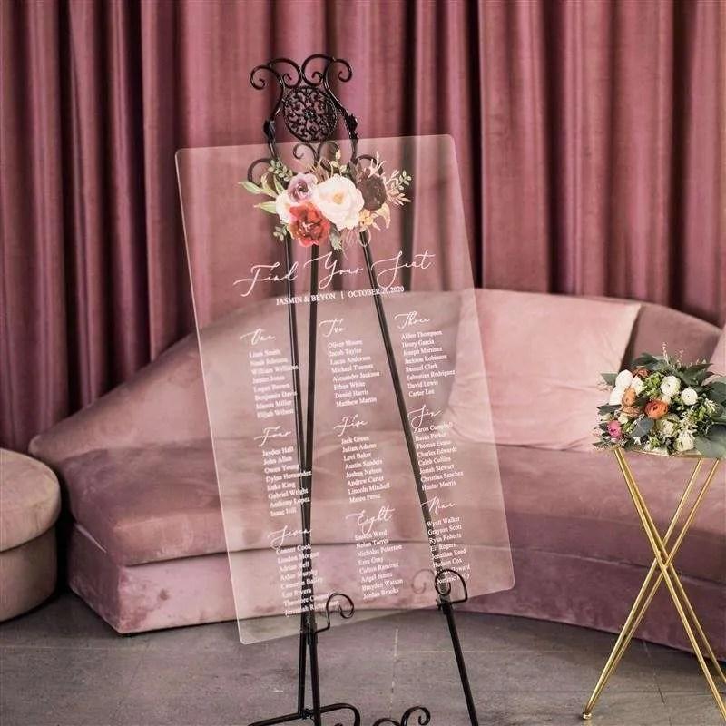 Cartelli Plexiglass tableau de mariage YK026_2