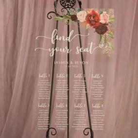 Cartelli Plexiglass tableau de mariage YK027_5