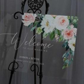 Cartelli Plexiglass tableau de mariage YK033_1