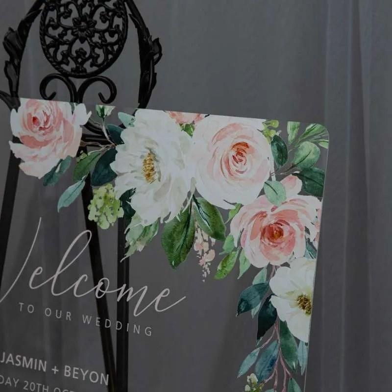 Cartelli Plexiglass tableau de mariage YK033_2