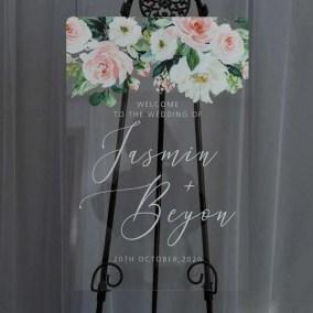 Cartelli Plexiglass tableau de mariage YK034