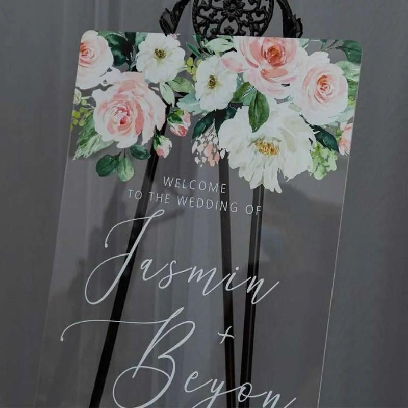 Cartelli Plexiglass tableau de mariage YK034_1