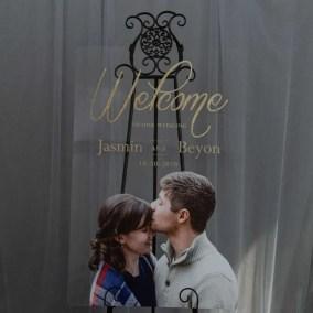 Cartelli Plexiglass tableau de mariage YK036_2