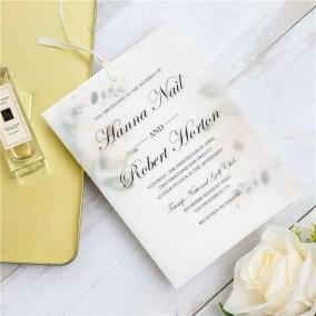 Invito di nozze elegante floreale a doppio strato in carta trasparente WDV0004_3