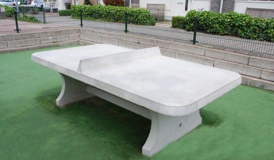 Table Ping Pong Angles Arrondis Exterieur Beton Partenaire Collectivite