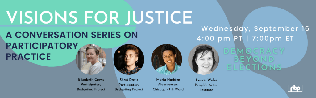 Visions for Justice: A conversation series on participatory practice. Democracy Beyond Elections.