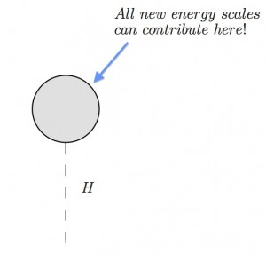The Higgs vacuum expectation value receives contributions from all energy scales.