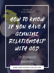 genuine relationship with god