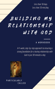 Relationship with God - Ecourse workbook cover