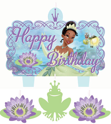 Princess And The Frog Molded Birthday Candle Set Parties4Kids