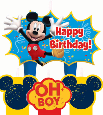 Mickey Mouse Molded Birthday Cake Candle Set Parties4Kids