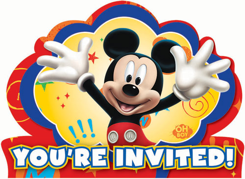 Mickey Mouse Party Invitations 8pk Parties4Kids