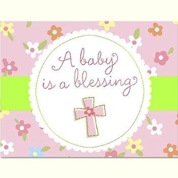 Blessed Baby Girl Baby Shower Invitations 8pk Parties4Kids