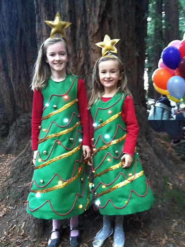 Christmas Tree Costumes Men Women Kids