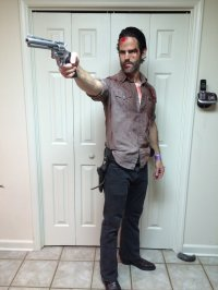 Homemade Walking Dead Costume | www.imgkid.com - The Image ...