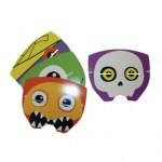 Boo Monsters temalı parti maskeleri ince karton üzerine renkli baskıdır. Kendinden lastik ipi mevcuttur. Çocuk yüzüne uygundur.