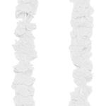 60cm uzunluğunda beyaz kumaş çiçekli boyun süsü. Meksika ve hawaii temalı partiler