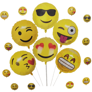 smiley folyo balon seti