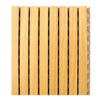 Interior Wall Cladding Wooden Grooved Acoustic Panel ...