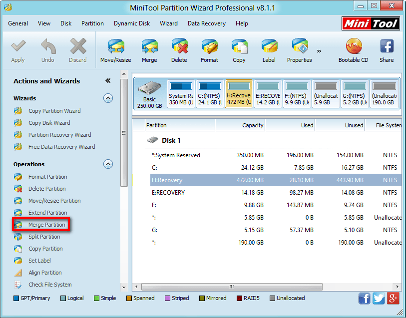 how to combine partitions windows 7