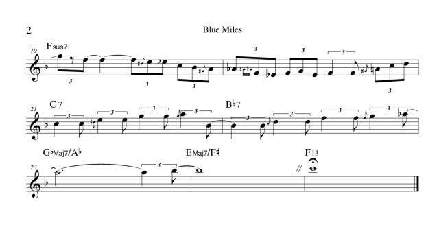 Blue Miles - Chick Corea - spartito del finale 2