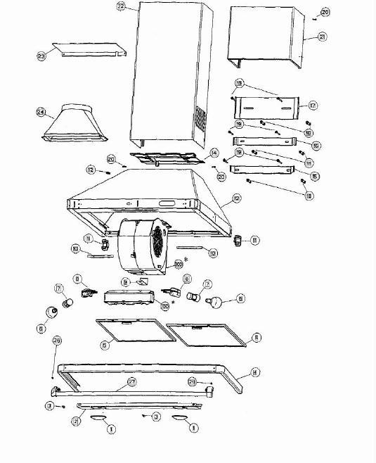 Rangemaster Cooker Hood Wiring Diagram Vacuum Cleaner