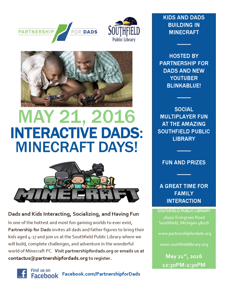 Interactive Dads - Minecraft Flyer
