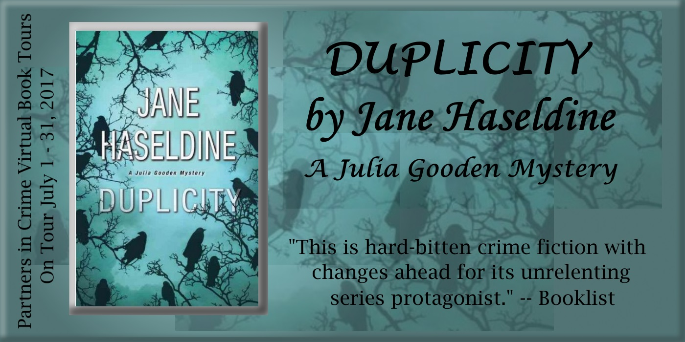 Duplicity by Jane Haseldine   Partners in Crime Virtual Book Tour Banner
