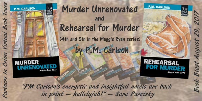 Murder Unrenovated & Rehearsal For Murder by P.M. Carlson Tour Banner