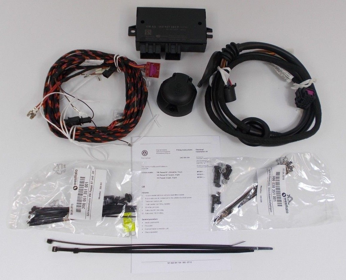 13 pin towbar wiring diagram uk sca led trailer lights genuine vw passat b7 cc towing electrics