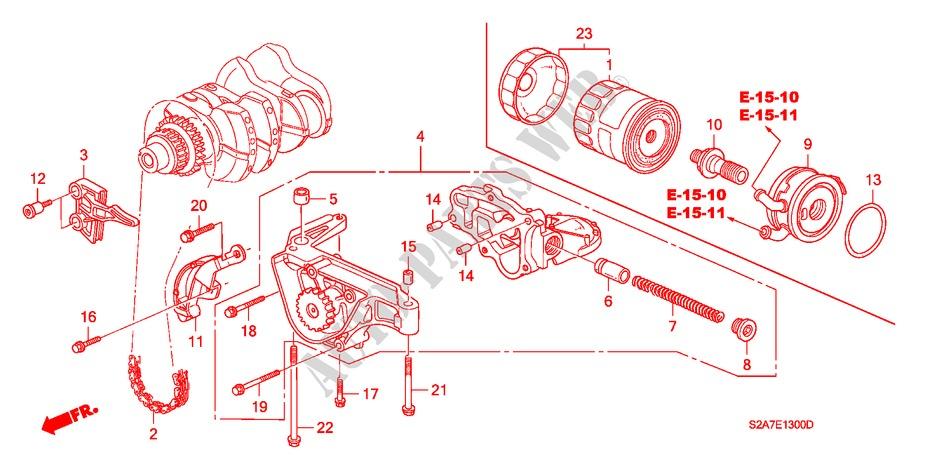 oil pump oil strainer engine s2000 2000 s2000 honda cars # honda - s2000  engine hose