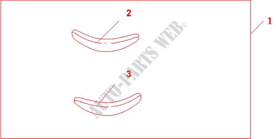 REAR BUMPER TRIM for Honda Cars JAZZ S4ES 5 Doors 5 speed