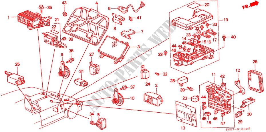93 Integra Fuse Diagram Wiring Diagram1988 honda civic under ... on