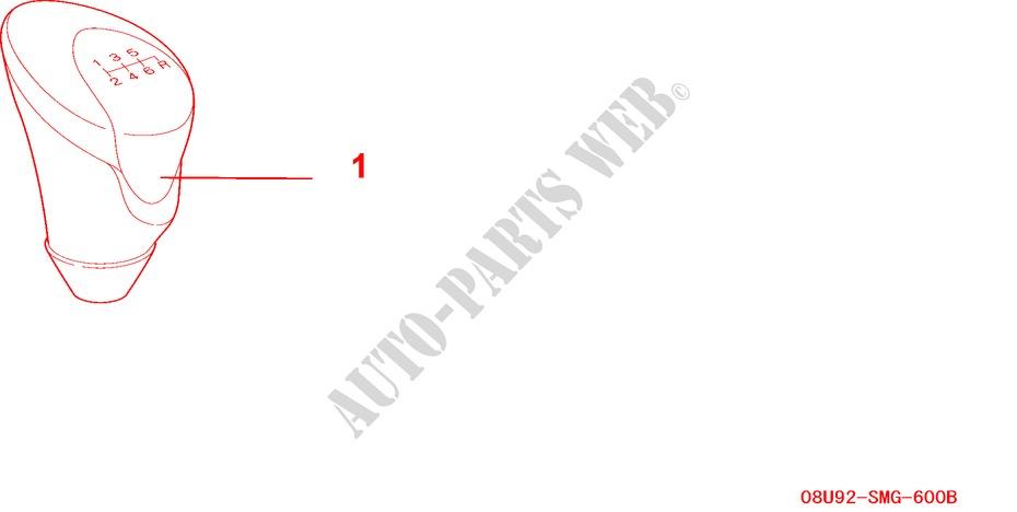 GEAR SHIFT KNOB 6MT for Honda Cars CIVIC 1.8 EX 5 Doors 6