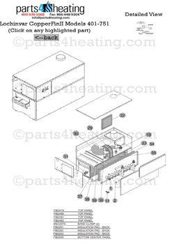 Parts4heating.com: Lochinvar Hydronic Boiler Copper Fin II
