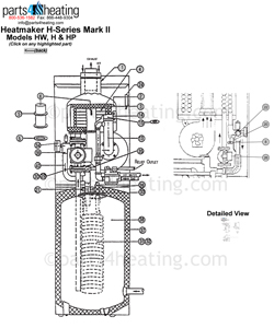 Parts4heating.com: Heatmaker HW-M2 Series Water Heater