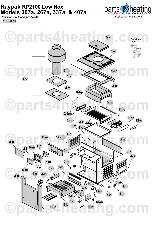 Raypak RP2100 Low Nox 207A-407A