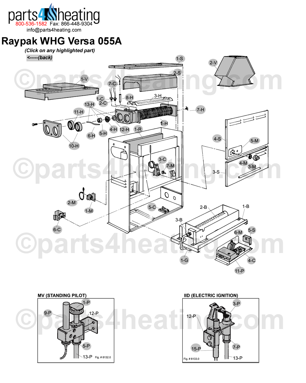 Raypak WHG Versa 055A