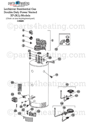 Parts4heating.com: Lochinvar Double Duty XP Water Heater Parts