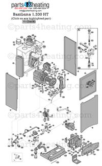Parts4Heating.com: Baxi Luna HT 1.330 Parts