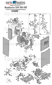 Parts4Heating.com: Baxi Luna HT 380 Parts