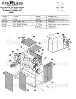 Parts4heating.com: Lochinvar Aquas XP 1500 Pool Heater